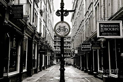 Photograph - London Street - Monochrome by David Warrington
