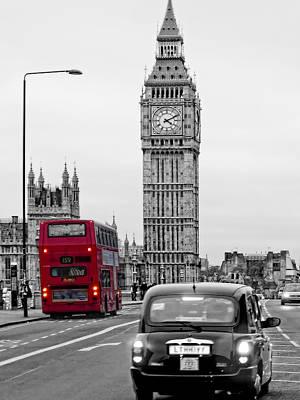 Bus Photograph - London Street-view by Joachim G Pinkawa