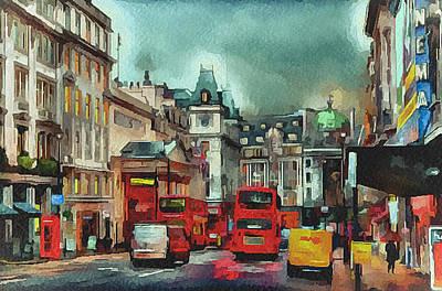 Old Town Digital Art - London Streets 2 by Yury Malkov