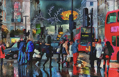 Old Town Digital Art - London Streets 3 by Yury Malkov