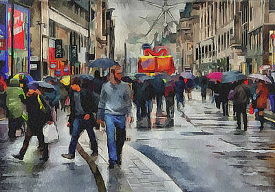 Old Town Digital Art - London Streets 4 by Yury Malkov