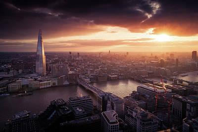 London Sunset View Art Print by Dennis Fischer Photography