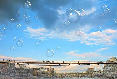 Digital Art - London Tate Bridge by Flow Fitzgerald