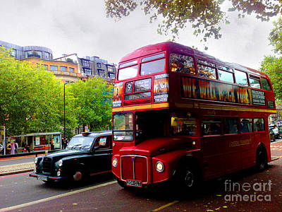 London Taxi And Bus Art Print