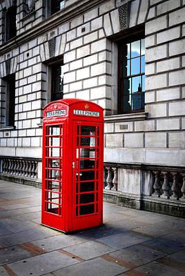 Red Phone Box Photograph - London Telephone Box by Mark Rogan
