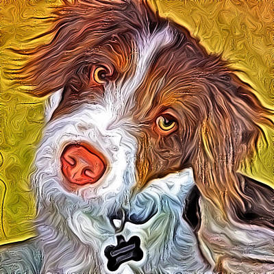 London The Dog Portrait Art Print by Artistinoz Jodie sims