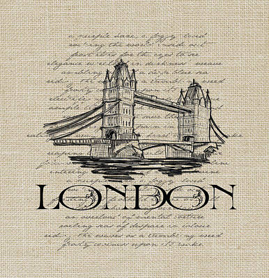 Digital Art - London Tower Bridge  by Jaime Friedman