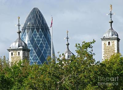 London Skyline Royalty-Free and Rights-Managed Images - London Towers by Ann Horn