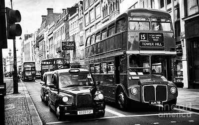 Photograph - London Traffic by John Rizzuto