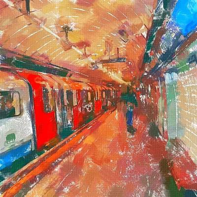 London Tube Painting - London Tube by Chris Butler