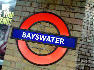 Bayswater Digital Art - London Tube by Isabelle Weissmann