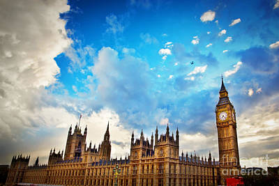 City Photograph - London Uk Big Ben The Palace Of Westminster by Michal Bednarek
