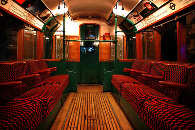 London Tube Photograph - London Undergound Car by Mark Rogan