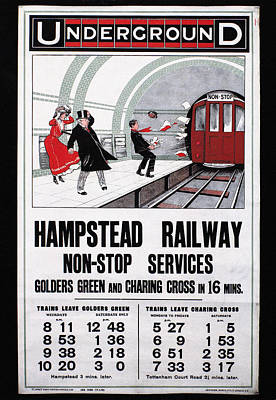 Photograph - London: Underground, 1910 by Granger