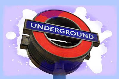 London Tube Digital Art - London Underground by Daniel Hagerman