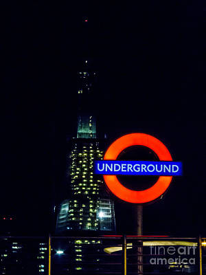 Photograph - London Underground Light In The Darkness by Peta Thames