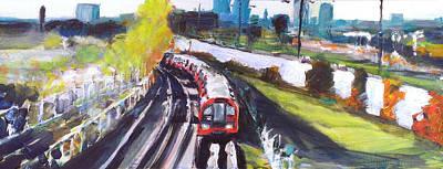 Transport Painting - London Underground Near Leyton by Paul Mitchell