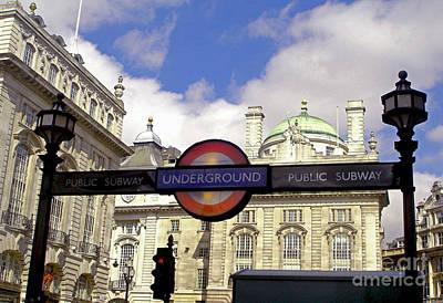 Photograph - London Underground by Nina Ficur Feenan