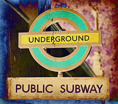 Subway Art Photograph - London Underground No.2 by Stephen Stookey