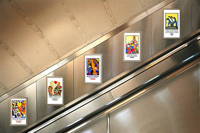 London Tube Photograph - London Underground Poster Collection by Mark Rogan