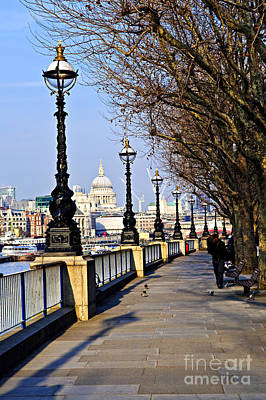 Sidewalks Photograph - London View From South Bank by Elena Elisseeva
