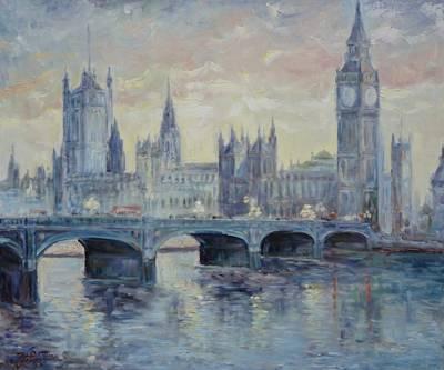 London Westminster Bridge Art Print
