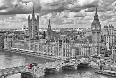 Historical Digital Art - London Westminster by Melanie Viola