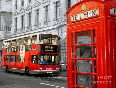 Photograph - London With A Touch Of Colour by Nina Ficur Feenan