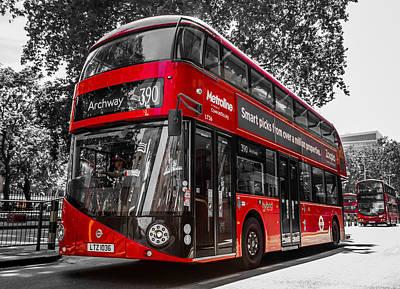 London's Double Decker Bus Art Print