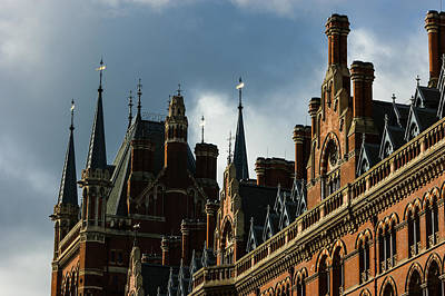 Weathervane Photograph - London's Eurostar Train Station St Pancras - A Remarkable Victorian Gothic Revival Building by Georgia Mizuleva