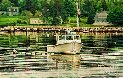 Sports Royalty-Free and Rights-Managed Images - Lone Boat by Darren Fisher