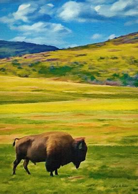 Painting - Lone Buffalo by Jeff Kolker