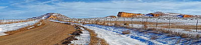 Kansas Photograph - Lone Butte Panoramic by Alan Hutchins