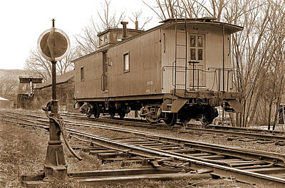 Lone Caboose Art Print by Mike Flynn
