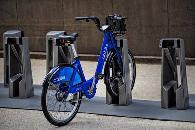 New York Photograph - Lone Citi Bike by Susan Candelario