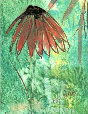 Painting - Lone Coneflower by Kristine Kellor