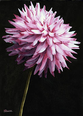 Painting - Lone Dahlia by Ken Powers