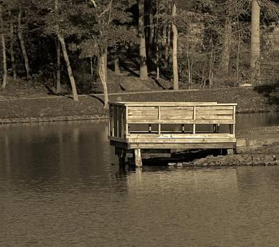 Photograph - Lone Dock by Thomas  MacPherson Jr