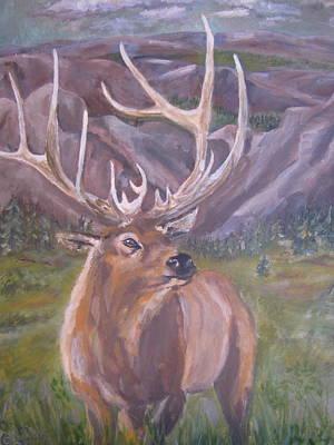 Painting - Lone Elk by Caroline Owen-Doar