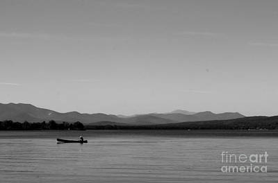 Photograph - Lone Fisherman by Barbara Bardzik