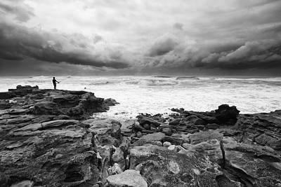 Photograph - Lone Fisherman by Des Jacobs