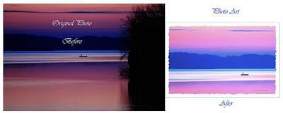 Water Droplets Sharon Johnstone - Lone Fisherman  Watersoft Smooth by Randall Branham