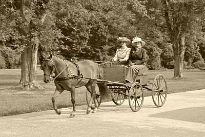 Lone Four Wheel Cart Print by Wayne Sheeler