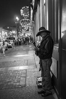 Photograph - Lone Guitar Player In Nashville  by John McGraw