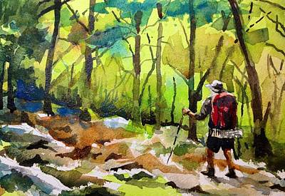 Hiker Painting - Lone Hiker by Spencer Meagher