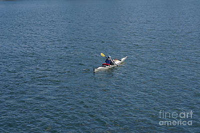 Photograph - Lone Kayaker Vancouver by John  Mitchell