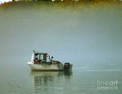 Art Print featuring the photograph Lone Lobsterman by Christopher Mace