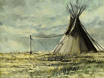 Painting - Lone Lodge by Steve Spencer