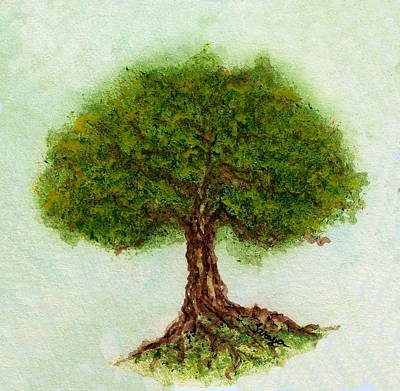 Painting - Lone Oak  by Tamyra Crossley