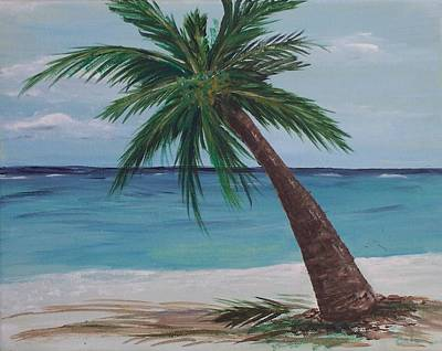 Art Print featuring the painting Lone Palm by Debbie Baker